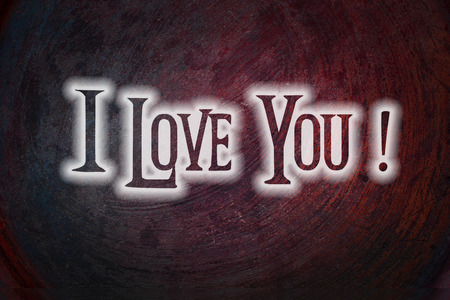 corazones: I Love You Concept text on background