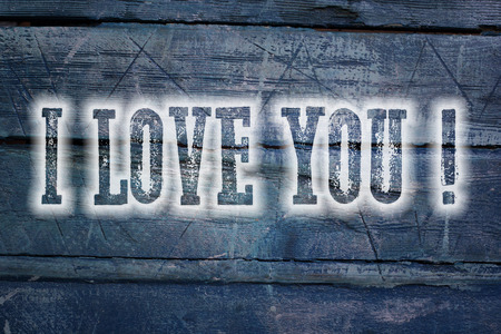 I Love You Concept text on background photo