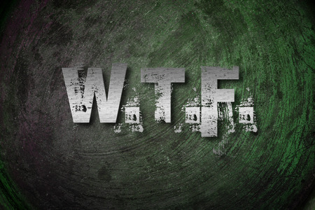 wtf: WTF Concept text on background