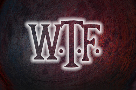 jargon: WTF Concept text on background