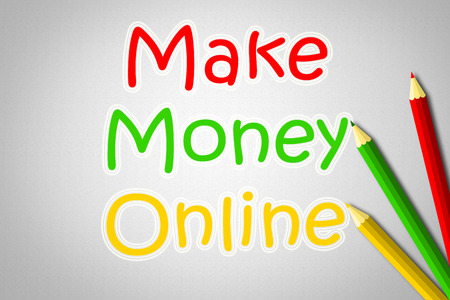 financial advisors: Make Money Online text on background