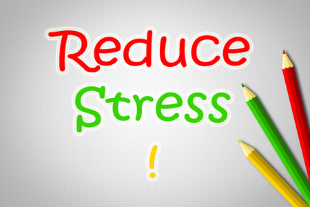Reduce Stress Concept text on background photo