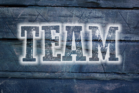 Team Concept text on background photo