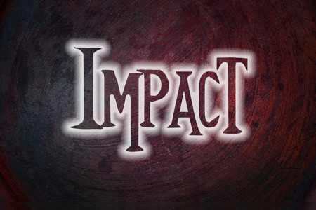 Impact Concept text on background