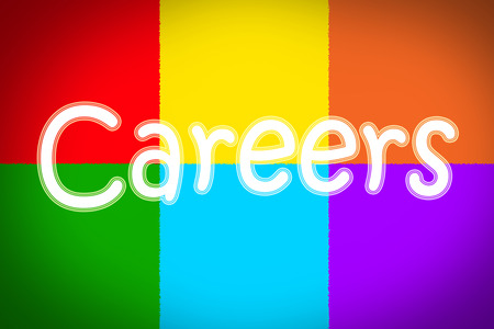 Careers Concept text on background photo
