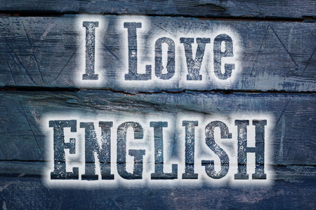 Love English Concept text on background photo