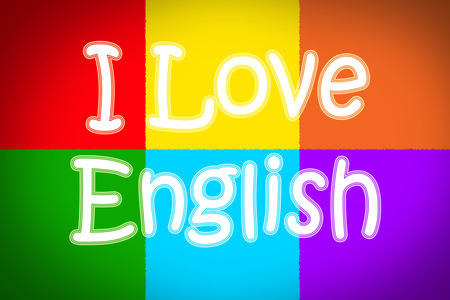 Love English Concept text on background Stock Photo