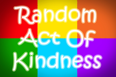 Random Act Of Kindness Concept text on background photo