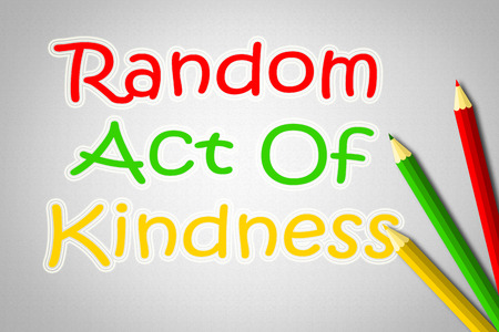 kind of: Random Act Of Kindness Concept text on background Stock Photo