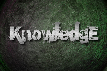 Knowledge Concept text on background photo