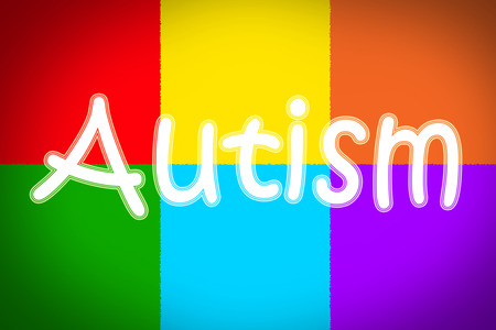 Autism Concept text on background Stock Photo