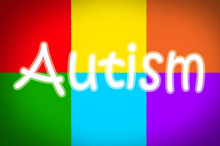 Autism Concept text on background photo