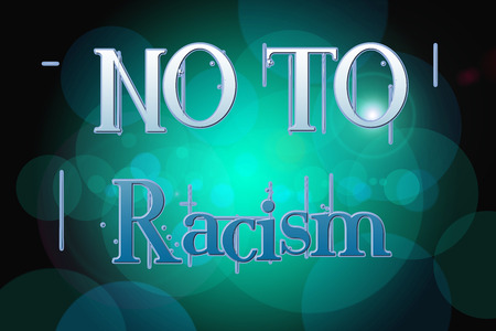 apartheid: No To Racism Concept  text on background Stock Photo