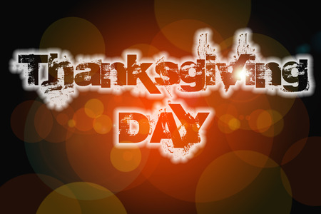 Thanksgiving Concept text on background Stock Photo
