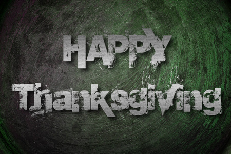 Thanksgiving Concept text on background photo