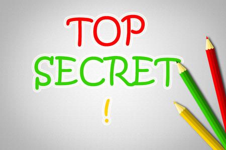 Top Secret Concept text on background photo