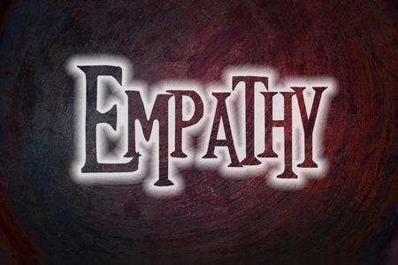 humanismo: Texto Empatía Concept en el fondo Foto de archivo