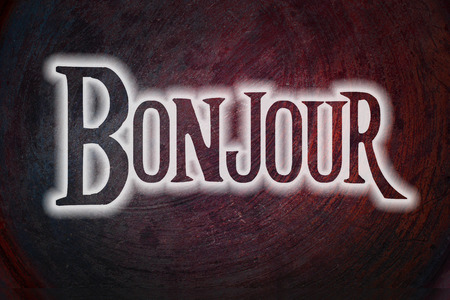 bonjour: Bonjour Concept text on background