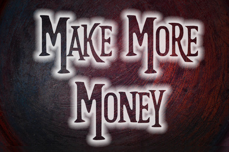 more money: Make More Money Concept text on background Stock Photo