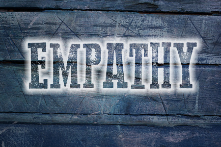 humanism: Empathy Concept text on background
