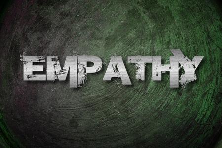 humanisme: Texte empathie Concept sur fond