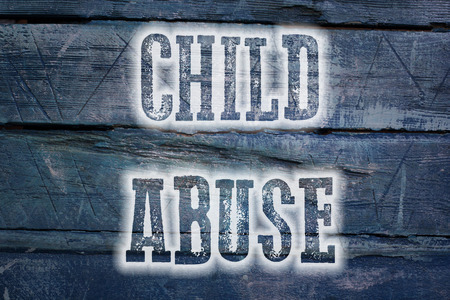 Child Abuse Concept text on background