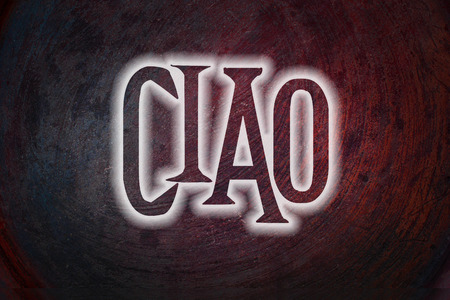 Ciao Concept text on background photo