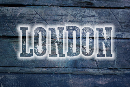 London Concept text on background photo