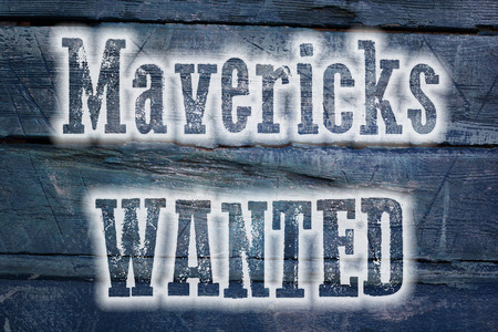 unorthodox: Mavericks Wanted Concept text on background Stock Photo