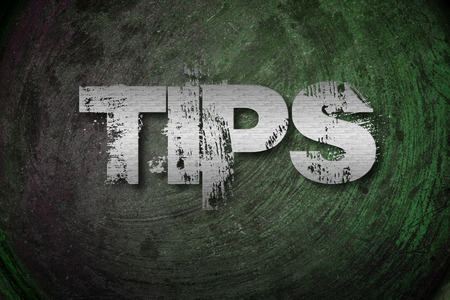 Tips Concept text on background photo