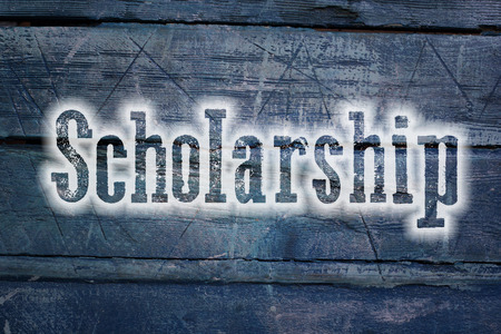 Scholarship Concept text on background photo