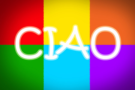 ciao: Ciao Concept text on background Stock Photo
