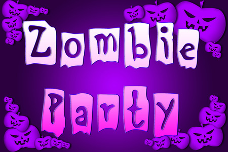 Halloween Zombie Party text on Background photo
