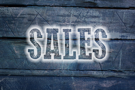 activate: Sales Concept text on background