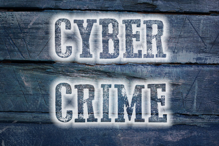 Cyber Crime Concept text on background photo