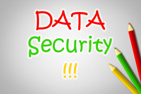 Data Security Concept text on background photo
