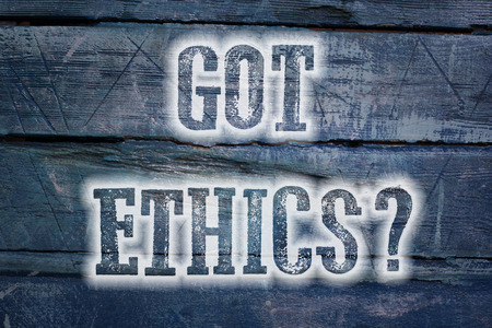 Got Ethics Concept text on background photo
