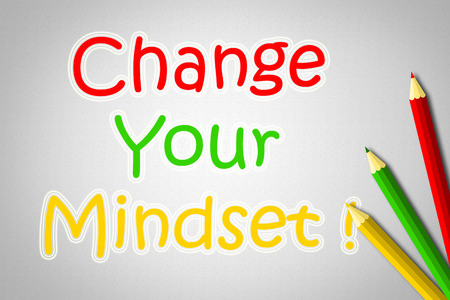 Change Your Mindset Concept text on background photo