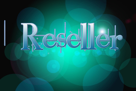 colocation: Reseller Concept text on background Stock Photo