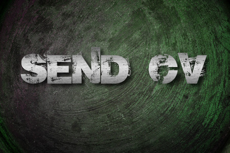 Send CV Concept text on background photo