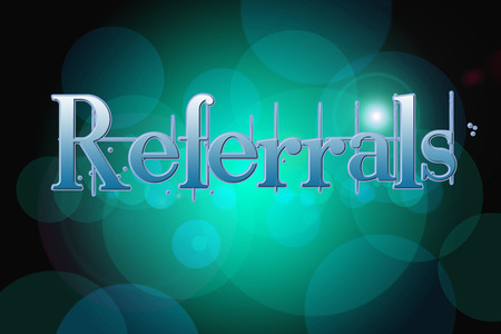 referrals: Referrals Concept text on background Stock Photo