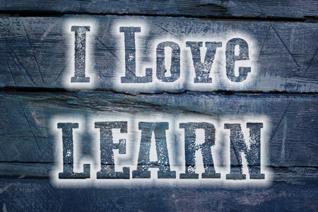 I Love Learn Concept text on background photo