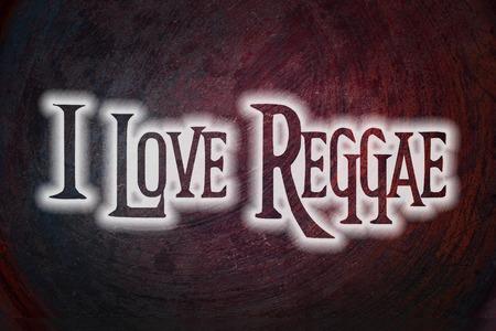 reggae: Je aime texte Reggae Concept sur fond