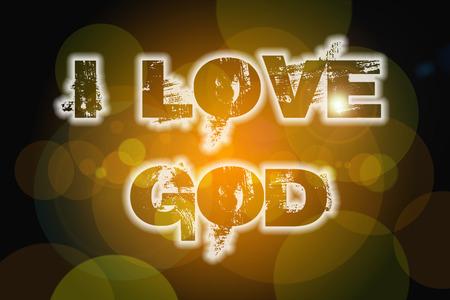 judah: I Love God Concept text on background Stock Photo