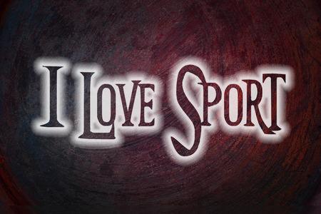 I Love Sport Concept text on background Stok Fotoğraf