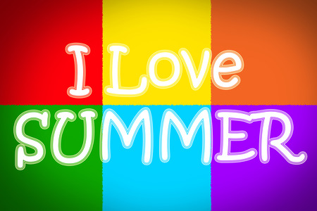 I Love Summer Concept text on background photo