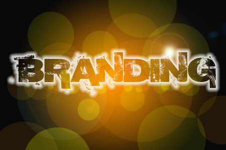 branded product: Branding Concept text on background Stock Photo