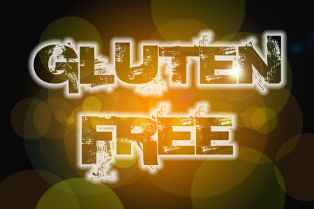 Gluten Free Concept text on background photo