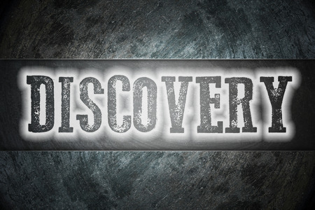Discovery Concept text on background photo