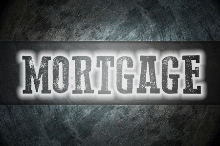 Mortgage Concept text on background photo